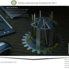 Rotary award won by a student of graphic design course